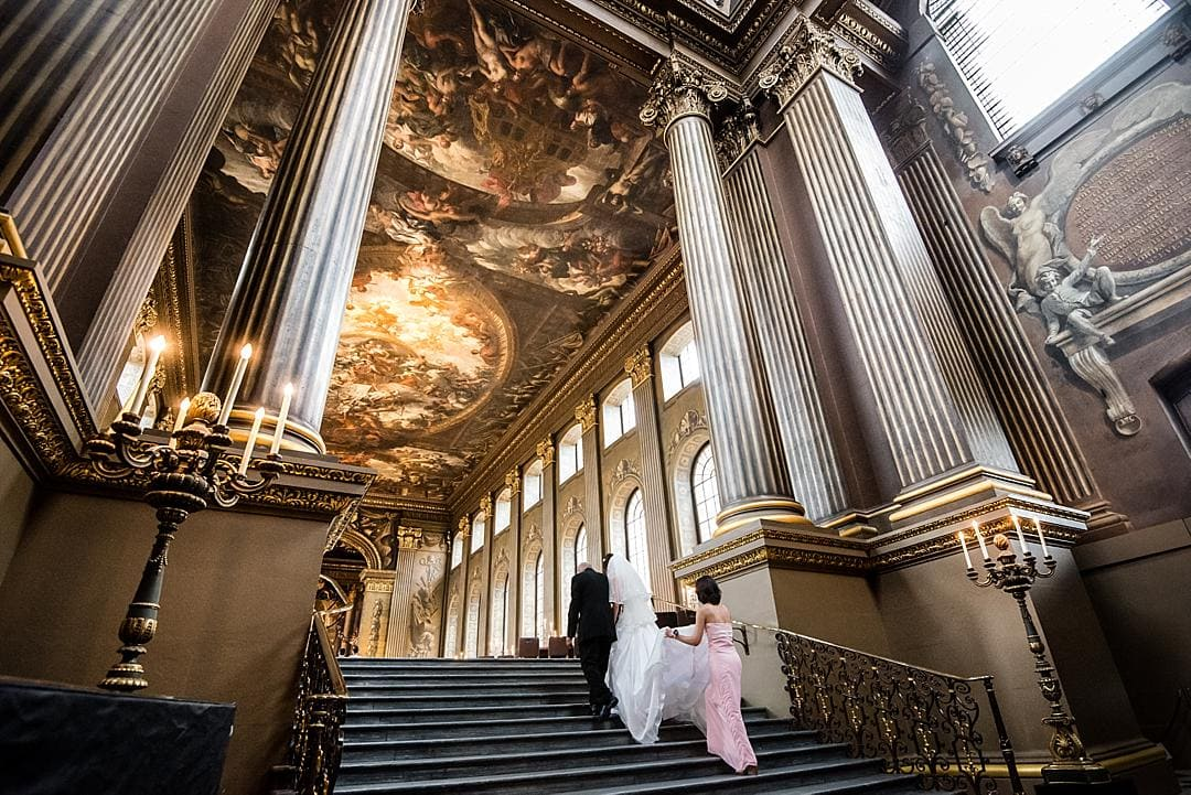 The Painted Hall Bride Arriving for ceremony