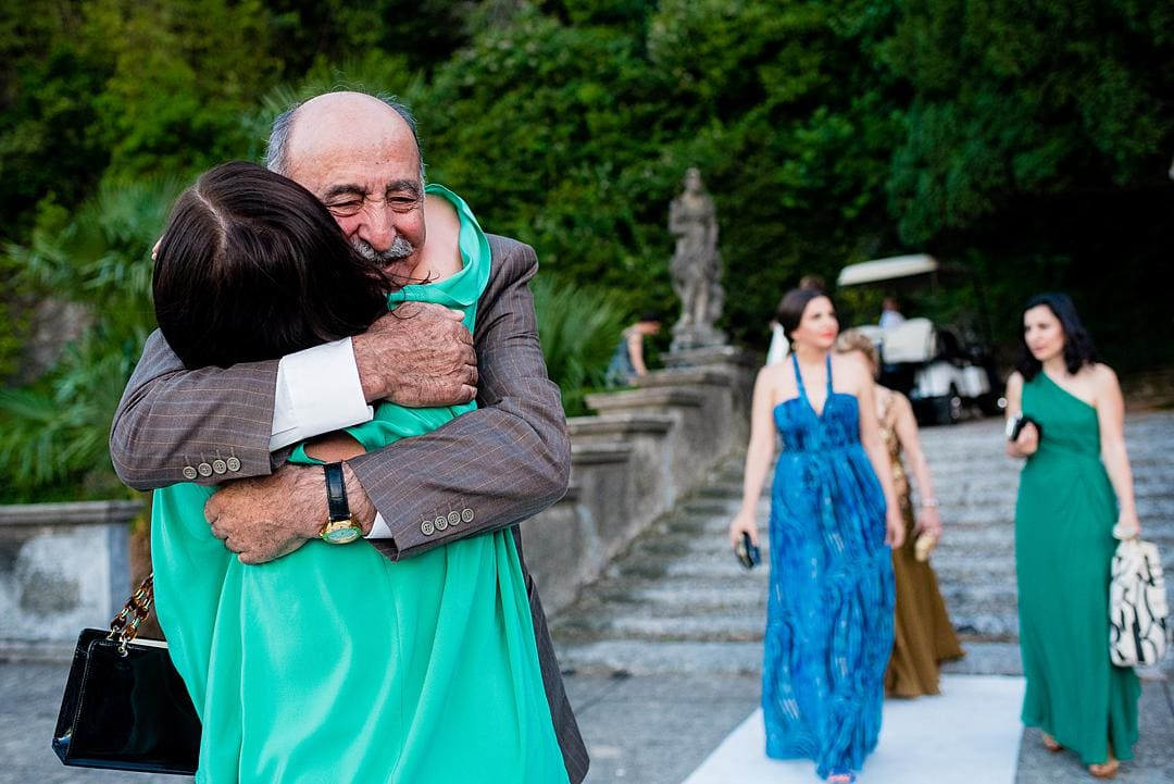 Guests at Marriage Ceremony at Villa Pizzo Lake Como