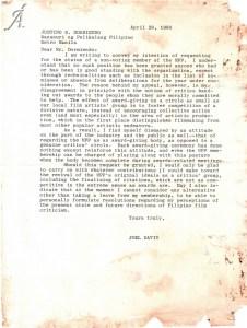 Letter re Manunuri status