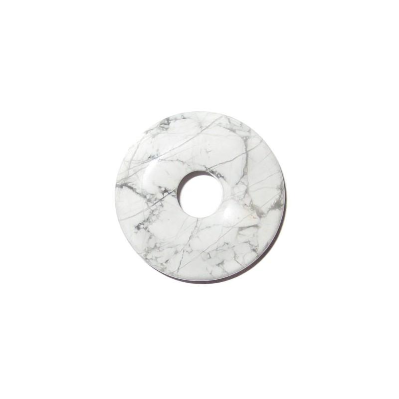 Edelstein-Anhänger Donut 30 mm Rosenquarz Fadenloch gebohrter Schmuckanhänger