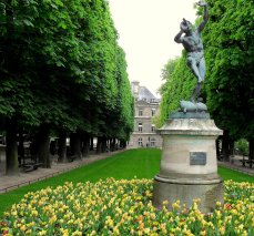 This faun frozen in a musical reverie I snapped in the Jardin du Luxembourg