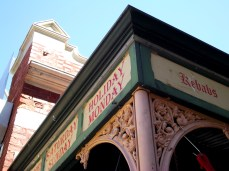 Taken on a summer day, this is the corner of the Fremantle Markets - a must for lovers of exotic coffee and handmade soaps.