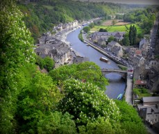 We photographed this view from a platform in Dinan. Oh that we had the time to wander down to see it!
