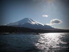 Vingnette treatment of Mount fuji