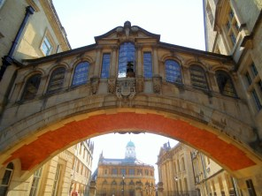 """I was pleased with this shot of the Sheldonian Theatre seen behind the the Hertford Bridge commonly know as the """"Bridge of Sighs"""". I know I sighed when I saw it. https://amaviedecoeurentier.wordpress.com/2015/01/02/bridge-of-sighs/"""