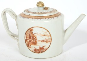 A teapot of a similar age but different maker with the image again. Where is it?
