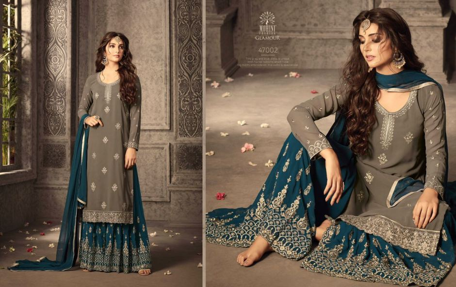 86f6ef53a8 Eid Special Glamorous Sharara Collection by Mohini at wholesale Rate.  DOWNLOAD ZIP