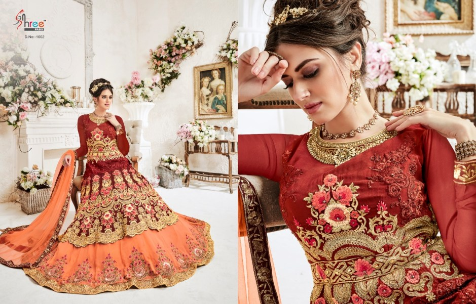e41f5f9d77 AMAVI EXPO Queen heavy embroidery bridal dresses collection by shree ...