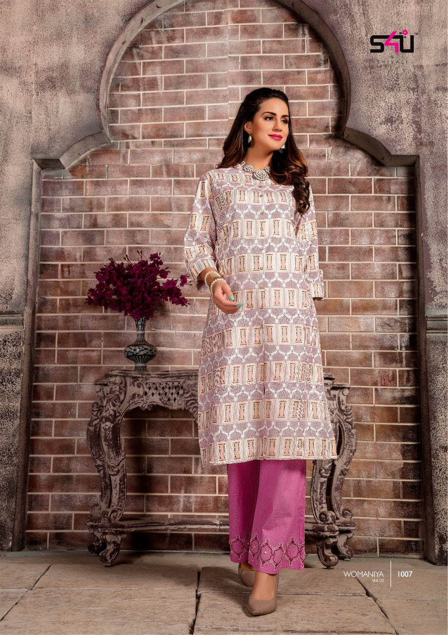 6db32f9d18 WOMANIYA VOL 10 BY S4U BY SHIVALI KURTI WITH BOTTOM COLLECTION. DOWNLOAD ZIP