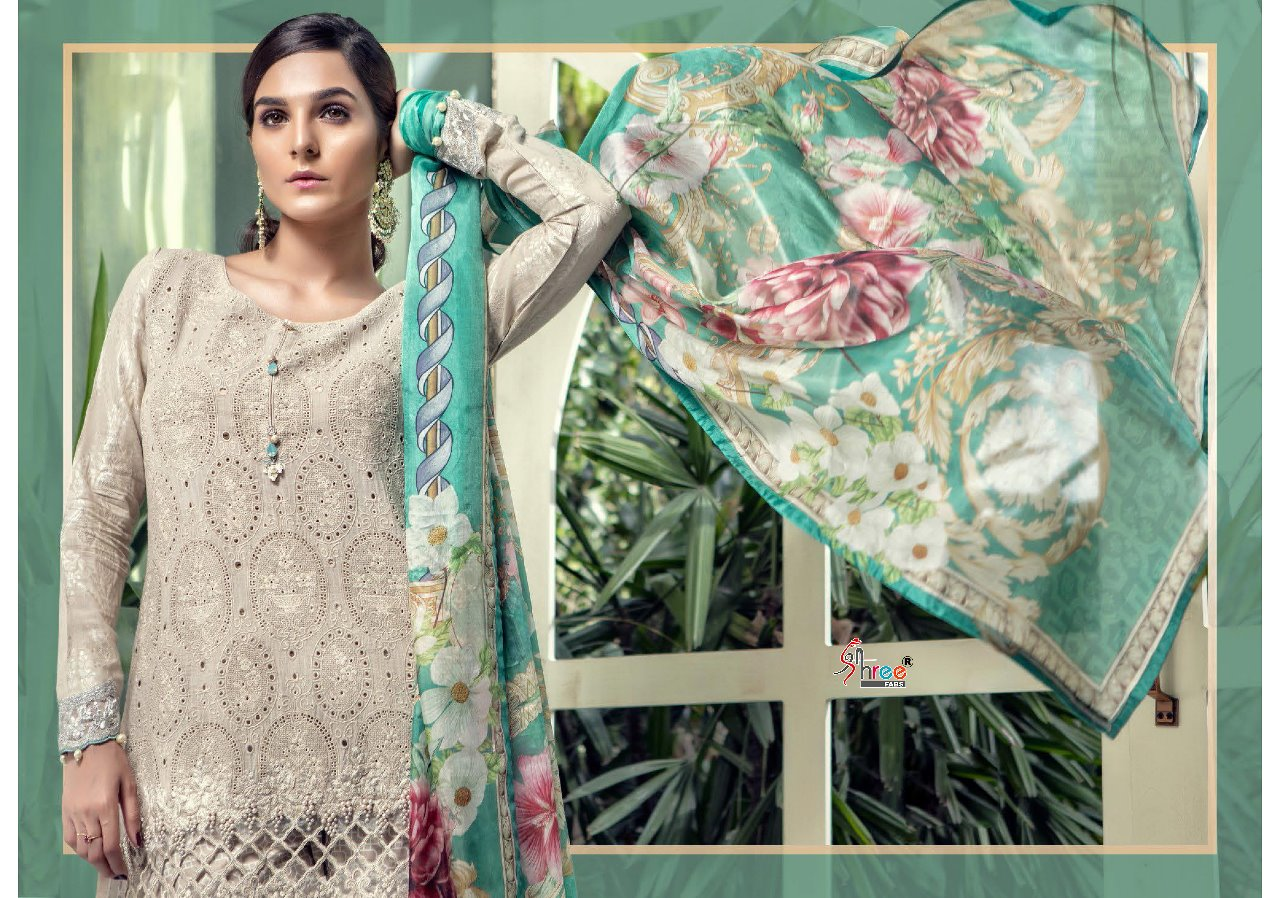 a89b5976d5 SHREE FABS MARIA B LAWN 18 EID COLLECTION PAKISTANI SUITS WHOLESALER.  DOWNLOAD ZIP