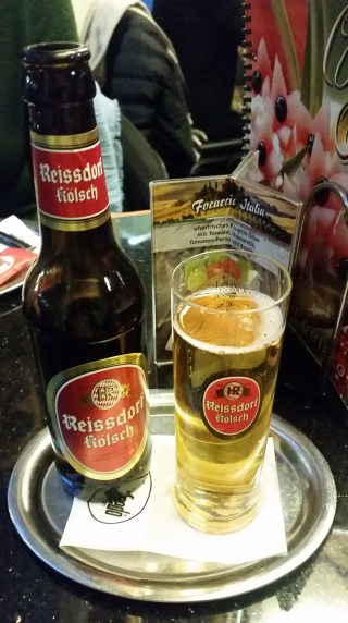 The local beer in the traditional glass