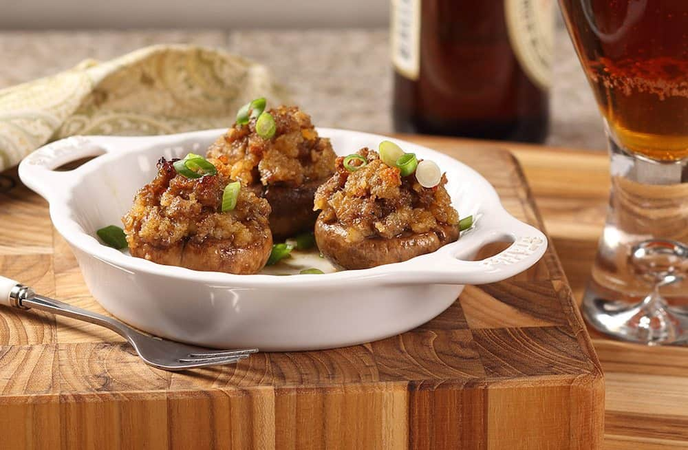 Revamp the Thanksgiving Menu with Sausage Stuffed Cremini Mushrooms