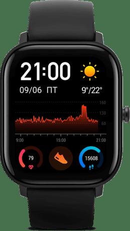 Современные функциональные умные часы Amazfit GTS