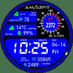 DigitalBlue/Red Amazfit Pace Watchfaces