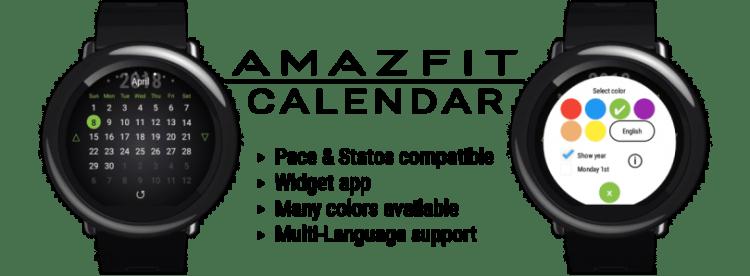 Get a Calendar Widget for the Amazfit Pace/Stratos