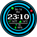 Amazfit Watchface Pace – Blue Rings