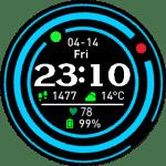 Amazfit Watchface Pace – Blue Rings