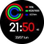 Like Apple Black Multi White Numbers – Amazfit Stratos (Pace) Watch faces