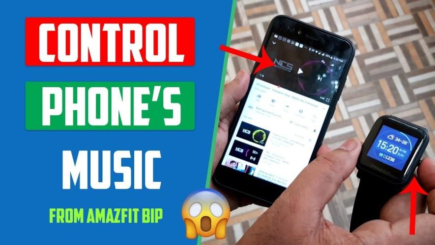Control Music Using Amazfit Bip | मस्त है ये तो !