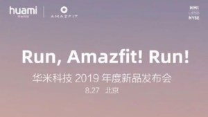 And finally: Amazfit to launch Sports Watch 3 on 27 August