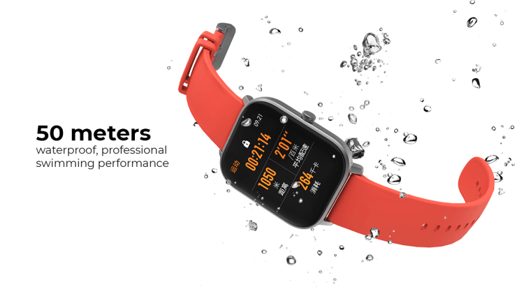 Amazfit GTS 50 meters waterproof