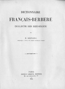 edmond destaing dico berbere amazighnet 219x300 Un nouveau dictionnaire amazigh