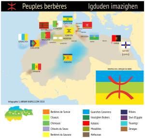 carte peuples berberes tamazgha 11 300x285 Tamazgha :  carte du peuple berbère