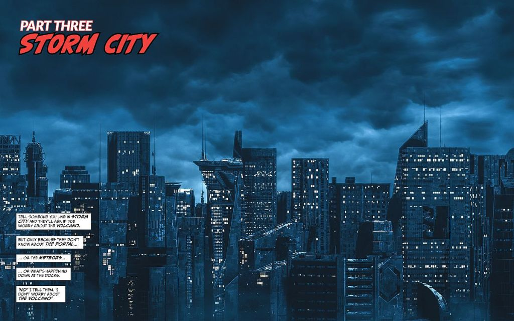 Storm City by night