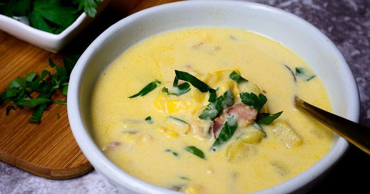 Ackee Clam Chowder