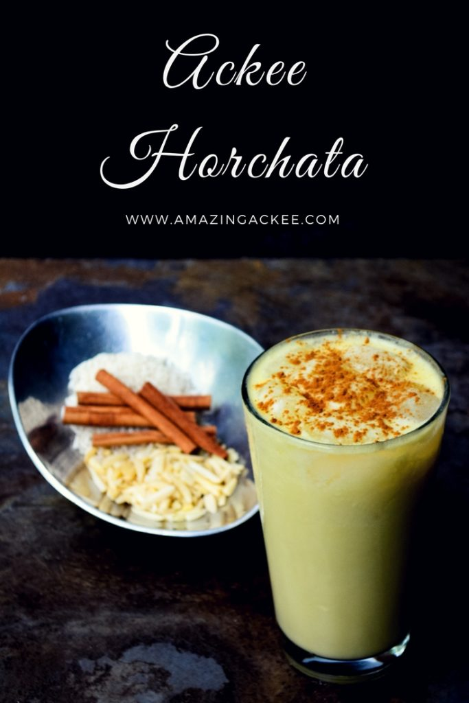 Ackee Horchata or Ackeechata is a nontraditional twist on horchata featuring the incredible ackee fruit, this drink is creamy and refreshing #vegan