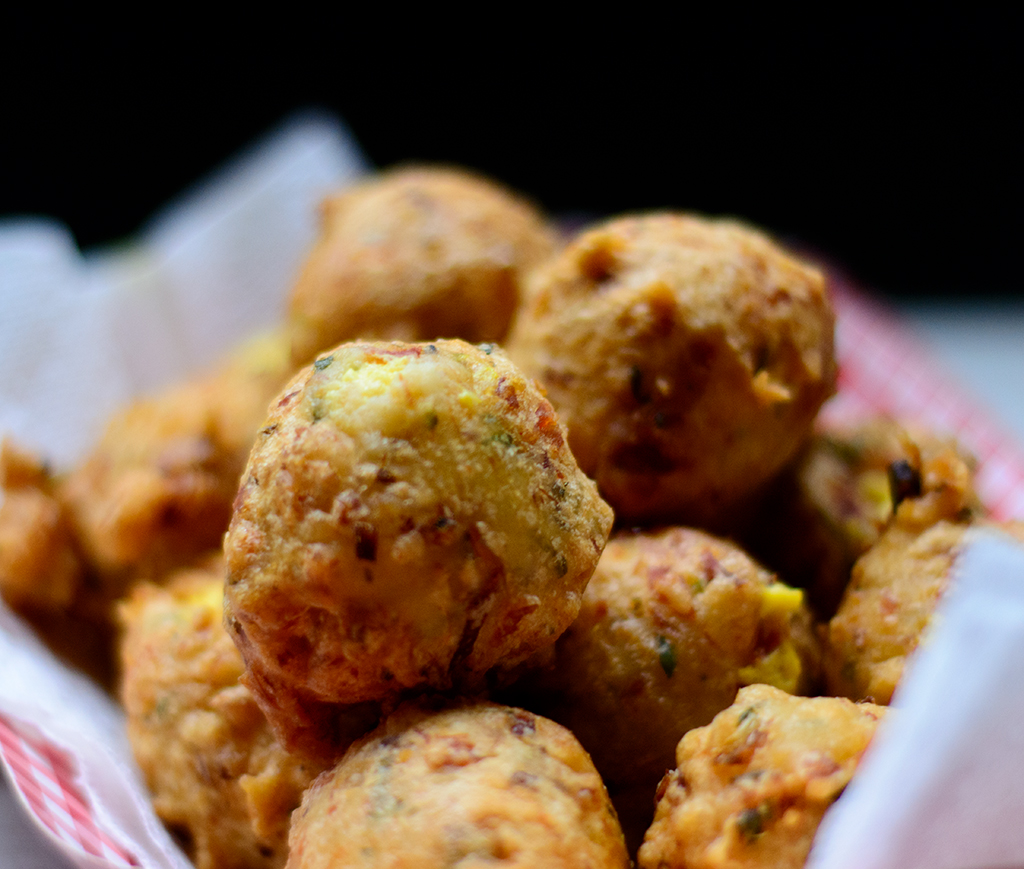 At-first-glance-they-seem-like-normal-saltfish-fritters-a-Caribbean-favourite,-but-inside-there-is-a-surprise,-it's-stuffed-with-ackee!