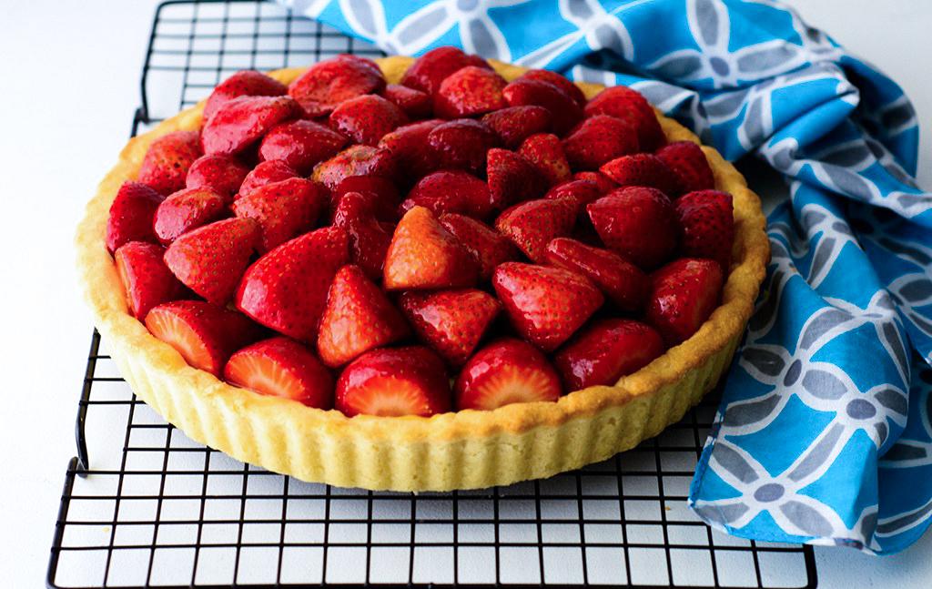 Fresh Strawberry Tart with Ackee Pastry Cream