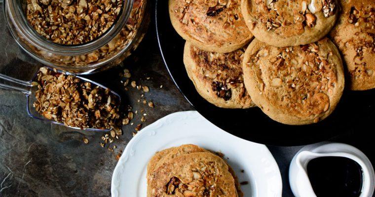 Granola Ackee Pancakes