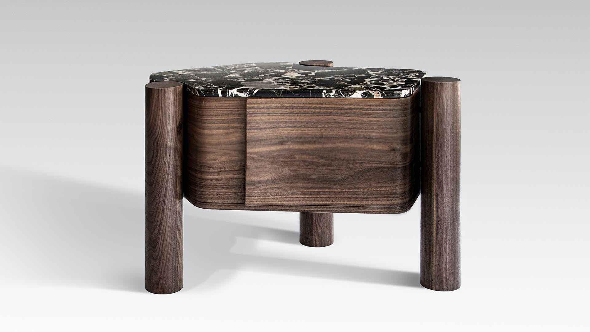 villa bed pedestal by okha bedside tables