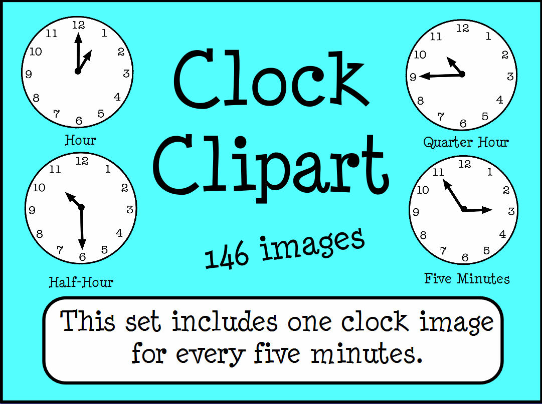 Clocks Telling Time Clipart Images Promethean Resource