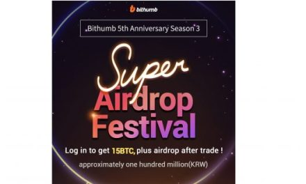 PR: Bithumb Celebrates Its Fifth Anniversary with BTC Air Drops
