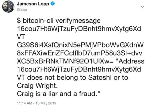 'Craig Is a Liar' – Early Adopter Proves Ownership of Bitcoin Address Claimed by Craig Wright