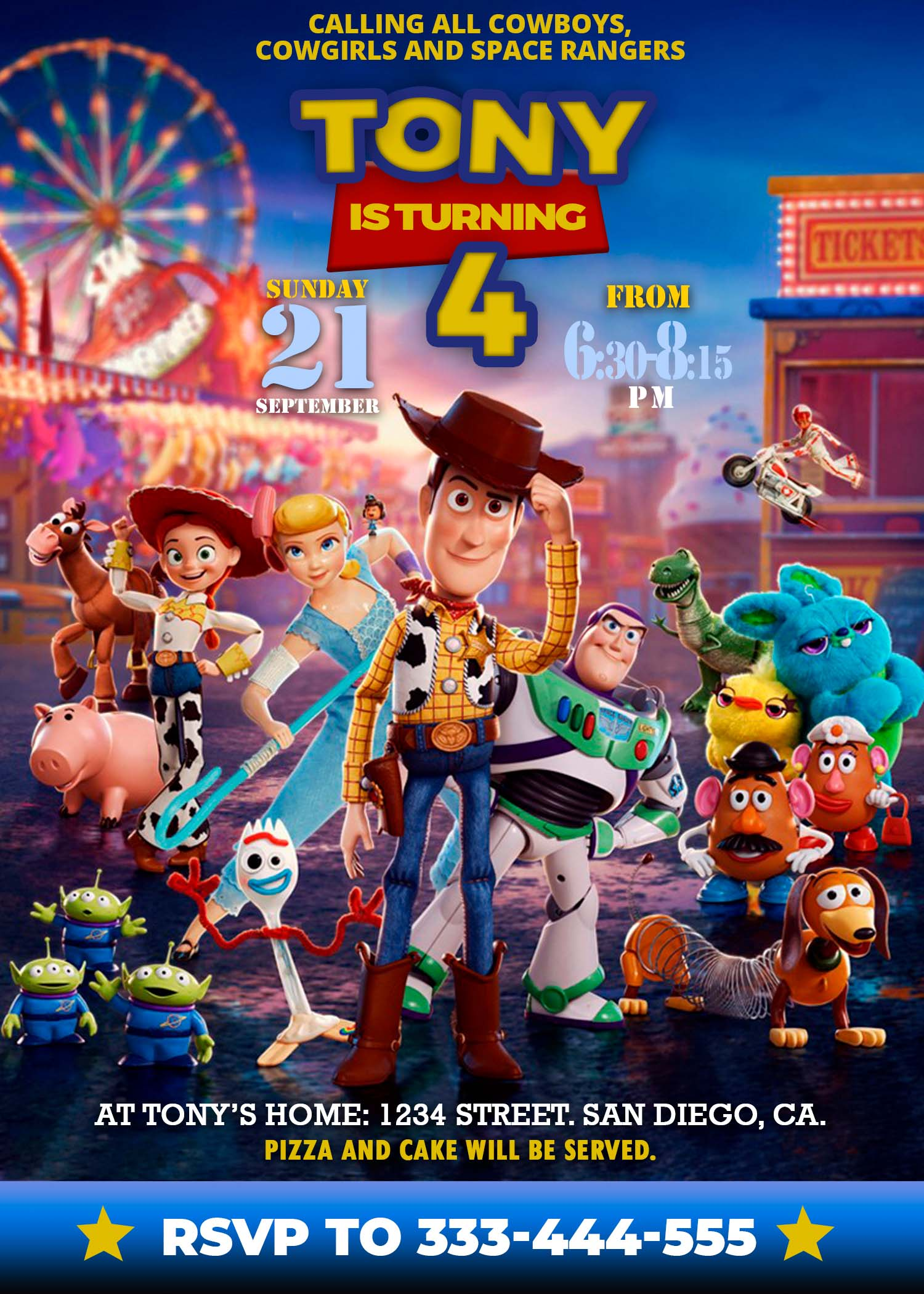 toy story 4 birthday party invitation 3