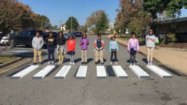 three-dimensional crosswalks