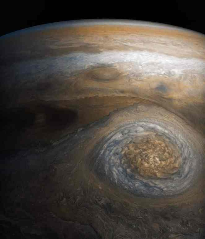 dynamic storm southern edge of jupiter