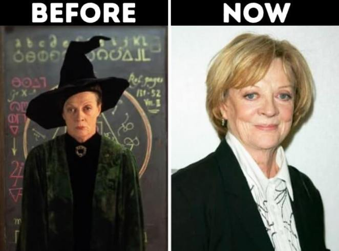 actors from Harry Potter now Minerva McGonagall played by Maggie Smith