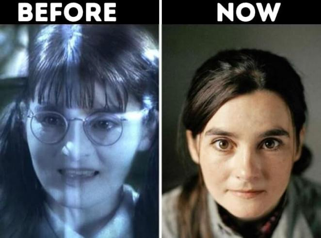 actors from Harry Potter now Moaning Myrtle played by Shirley Henderson