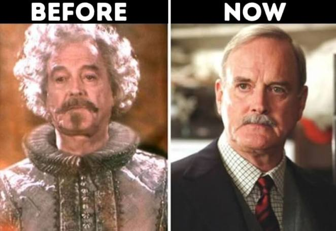 actors from Harry Potter now Nearly Headless Nick played by John Cleese