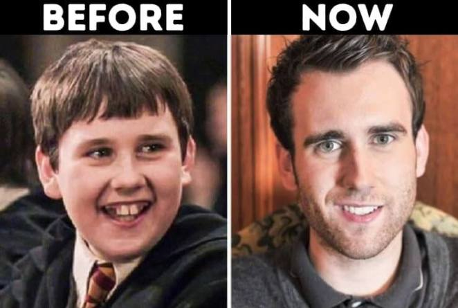 actors from Harry Potter now Neville Longbottom played by Matthew Lewis