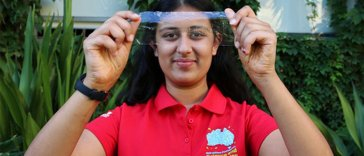 Angelina Arora of Australia Teenage Girl Invented a biodegradable plastic made from Prawn Shells