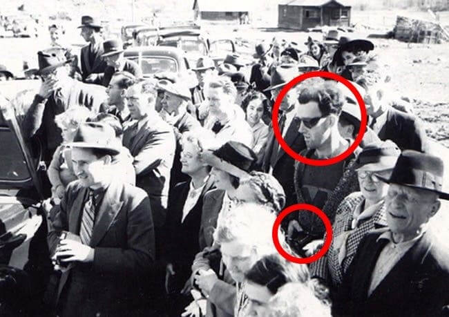 Mysterious man at the time of opening ceremony of golden bridge in canada