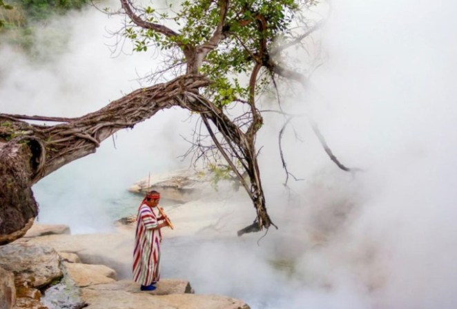 boiling river in Andres ruzo