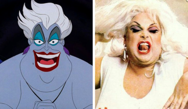 Evil Ursula from The Little Mermaid character is based on real people