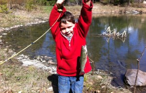 Giovanni and his very first brookie ever!