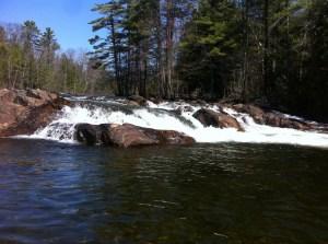 The Presumpscot River Falls at North Gorham Pond